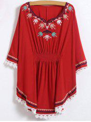 Embroidered Caftan Top -
