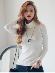 Turtleneck Long Sleeves T-Shirt