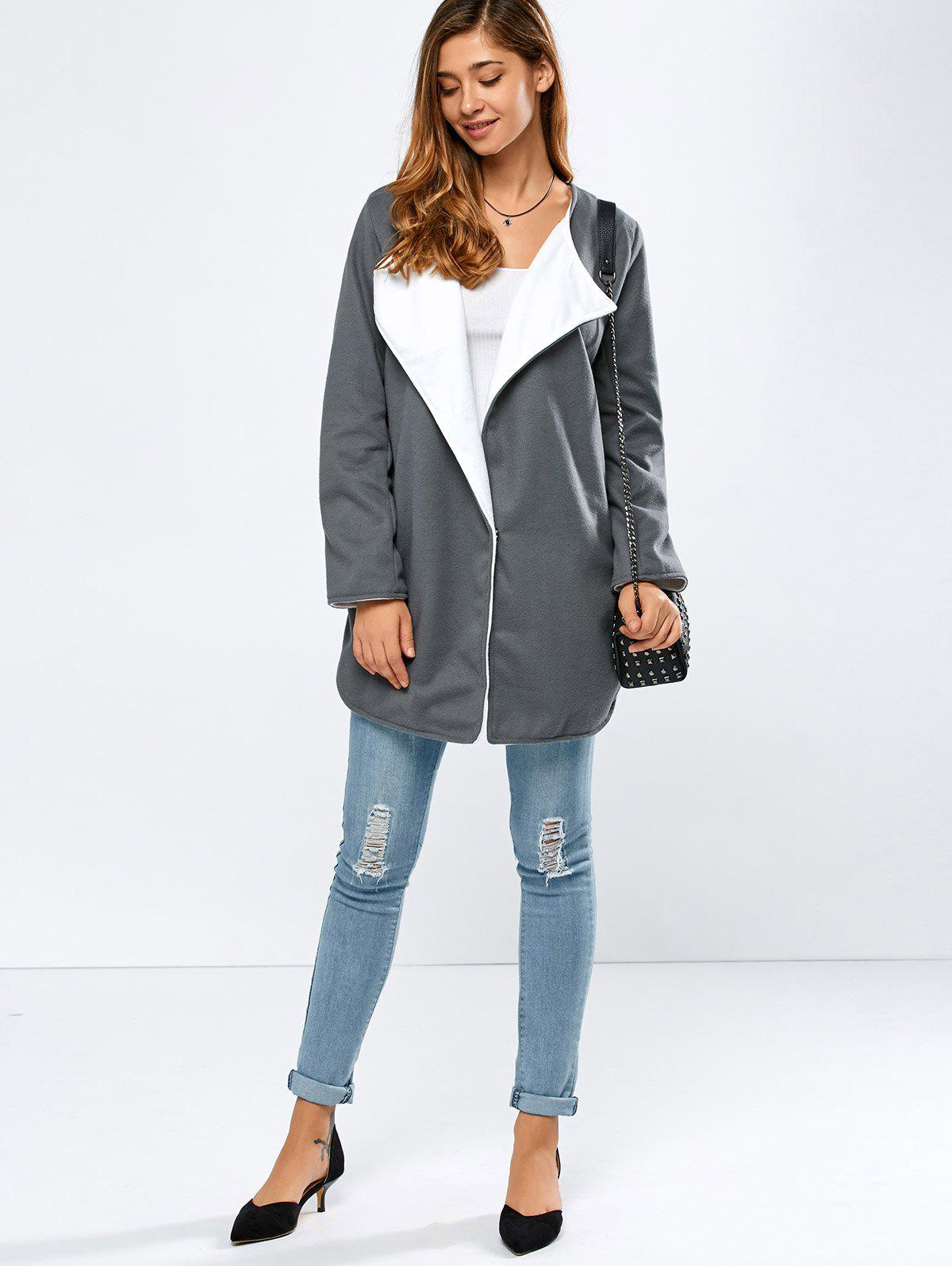 Manteau Side Slit Woolen