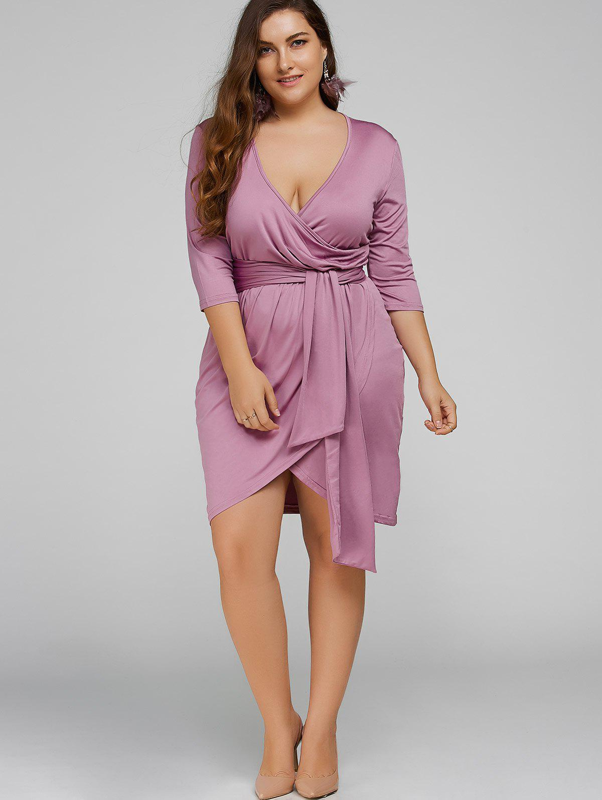 Tie Waist Plus Size Maid of Honor Dress