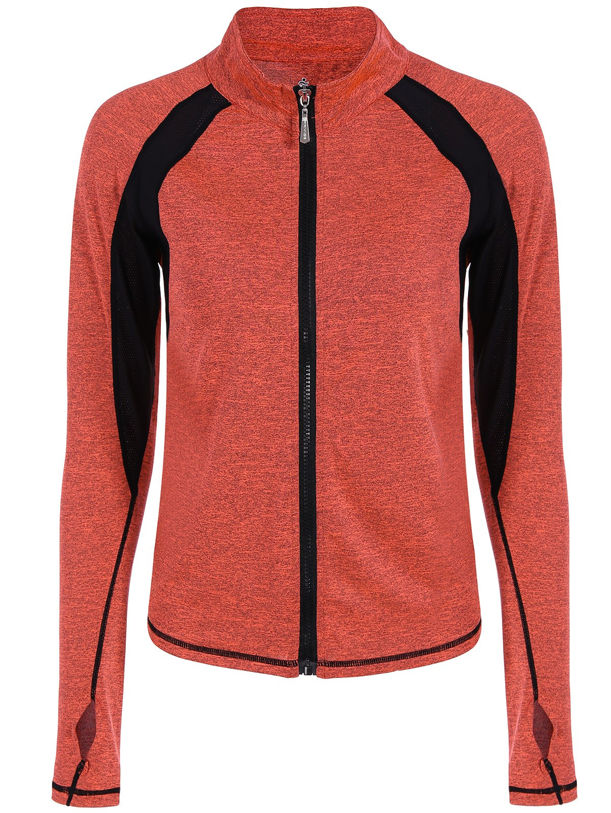 Outfits Breathable Heather  Zip Up Sporty Jacket