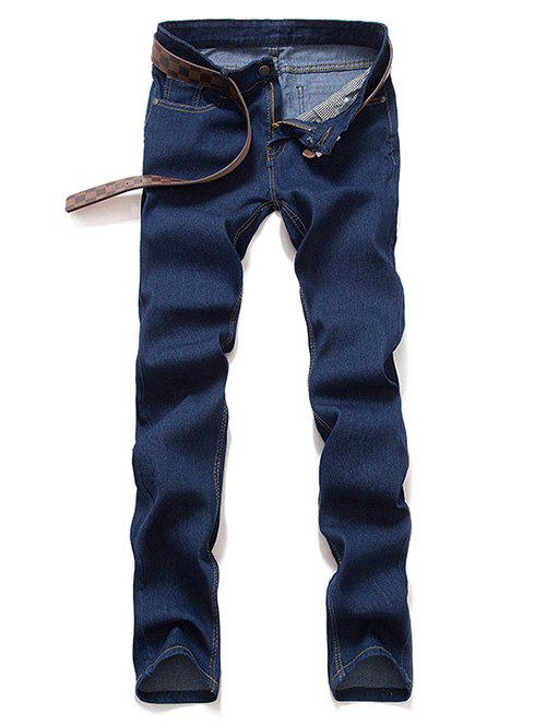 Mid taille Zipper Fly Skinny Jeans