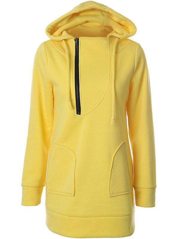Hot Zipper Design Raglan Sleeve Pullover Hoodie
