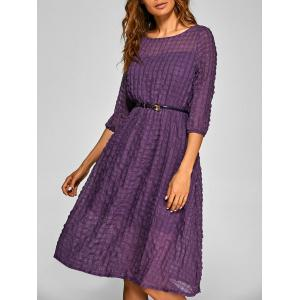 Plaid Pattern A Line Swing Dress