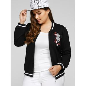 Plus Size Embroidered Embellished Jacket -