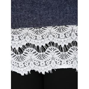 Plus Size Lace Splicing Openwork Sweater -