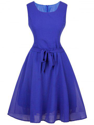 Sale Vintage Tie-Waist Slimming Dress