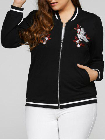Affordable Plus Size Embroidered Embellished Jacket