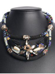 Bohemian Layered Faux Crystal Floral Choker
