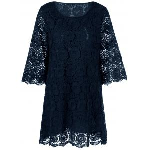Floral Overlay Lace Cocktail Dress