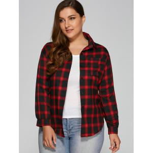 Flannel Plus Size Plaid Shirt