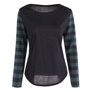 Plaid Casual T-Shirt