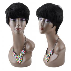 Short Straight Neat Bang Boy Cut Heat Resistant Fiber Wig