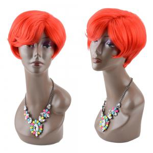 Bob Haircut Short Straight Side Bang Synthetic Wig