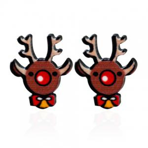 Christmas Elk Stud Earrings