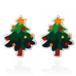 Christmas Tree Pentagram Stud Earrings