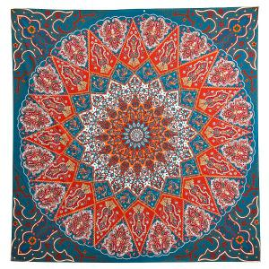 Indian Mandala Print  Square Beach Throw