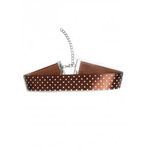 Polka Dot Choker Necklace
