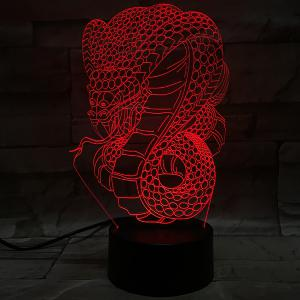 Creative 3D Visual Colorful Atmosphere Snake Shape LED Night Light