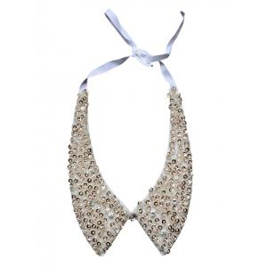 Rhinestone Faux Collar Necklace