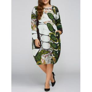 Long Sleeve Plus Size Cocoon Dress