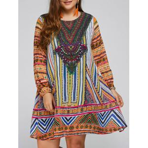 Plus Size A Line Tunic Dashiki Dress
