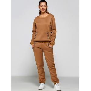 Pocket Design Sweatshirt + Sweatpants