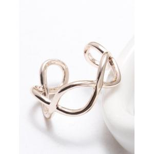 Filigree Infinity Polished Cuff Ring