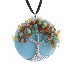 Handmade Beaded Tree Round Necklace
