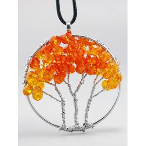Handmade Beaded Life Tree Pendant Necklace