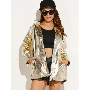 Punk Hooded Metallic Jacket
