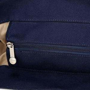 Buckle Strap Canvas Color Block Backpack - DEEP BLUE