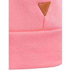Patched Casual Hoodie - PINK 2XL