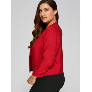 Plus Size Open Front Crop Jacket -