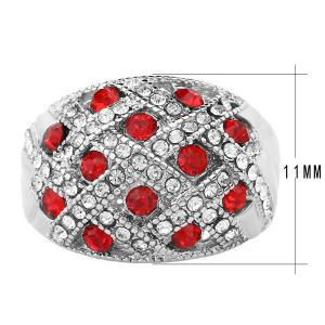 Woven Rhinestone Curved Finger Ring -