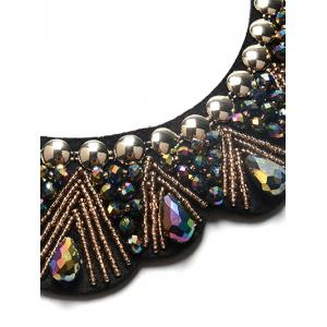 Faux Gem Water Drop Beads Necklace -