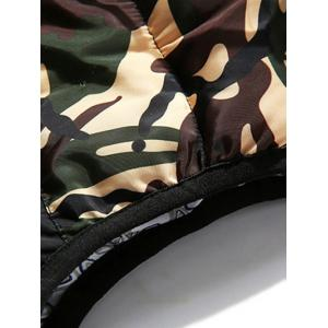 Camo Panels Puffer Hooded Vest -