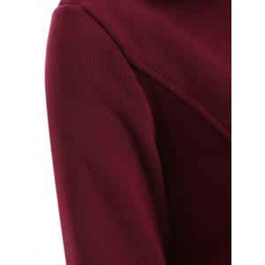 Double-Breasted Belted Overcoat - WINE RED M