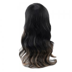 Long Full Bang Ombre Wavy Synthetic Wig - COLORMIX