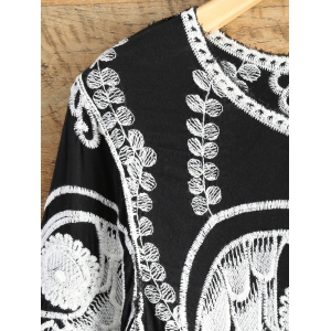 A Line Owl Embroidered Top -