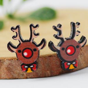 Christmas Elk Stud Earrings -