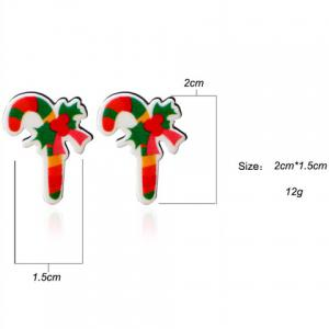 Candy Cane Christmas Stud Earrings - GREEN