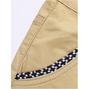 Knitting Spliced Edging Zipper Fly Narrow Feet Pants -