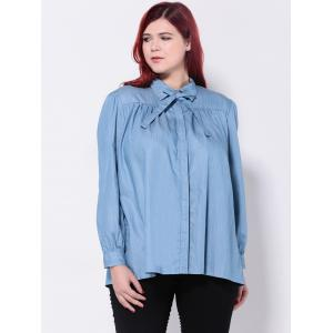 Loose-Fitting Bowtie Design Blouse -