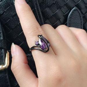 Fake Gem Cuff Ring -
