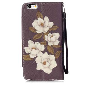 Floral PU Wallet Card Design Flip Stand Cover For iPhone 6S -