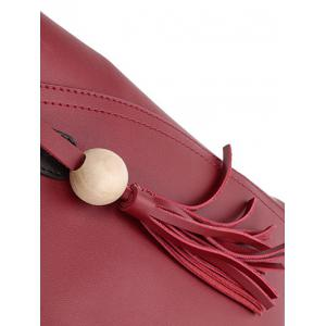 Tassels Colour Spliced Stitching Tote Bag -