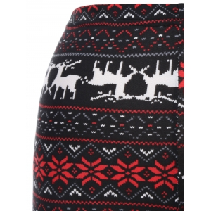 Christmas Deer Snowflake Print Leggings -