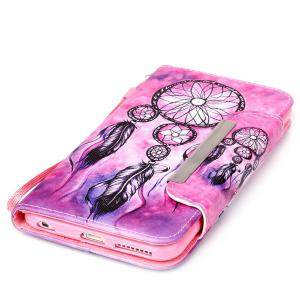 Smart Stand Aeolian Bells PU Wallet Card Slot Cover For iPhone 6S Plus -