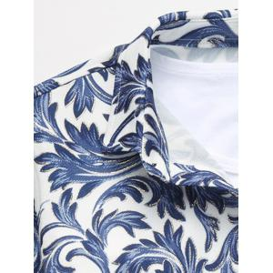 Single Breasted Long Sleeve Print Shirt - COLORMIX 5XL